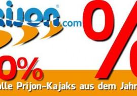 20% Rabatt auf Prijon-Kajaks